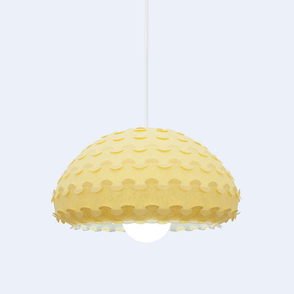 yellow and white bell pendant lamp from Japan by 24d-studio