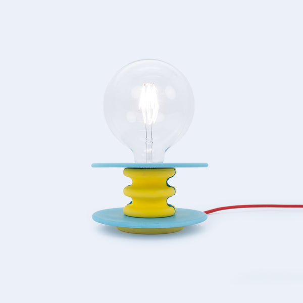colorful small table lamp in yellow and blue colors, Frutti by 24d-studio