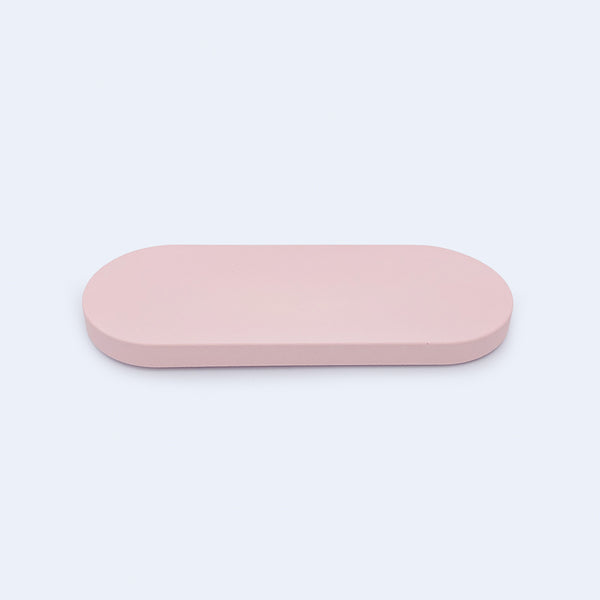 oval pink accessories tray by 24d-studio