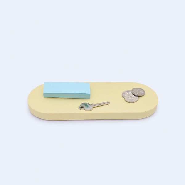 yellow accessories tray oval botanica by 24d-studio