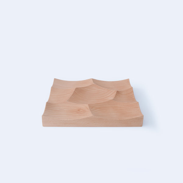 Small Storm Tray in beech wood made in Japan by 24d-studio
