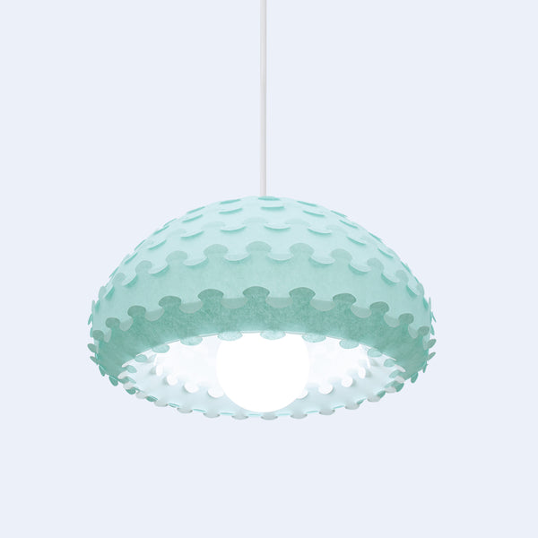 green and white double dome lamp shade from washi paper by 24d-studio