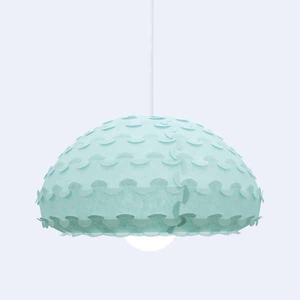 interlocking detail in Kasa mint green dome lamp by 24d-studio from japan