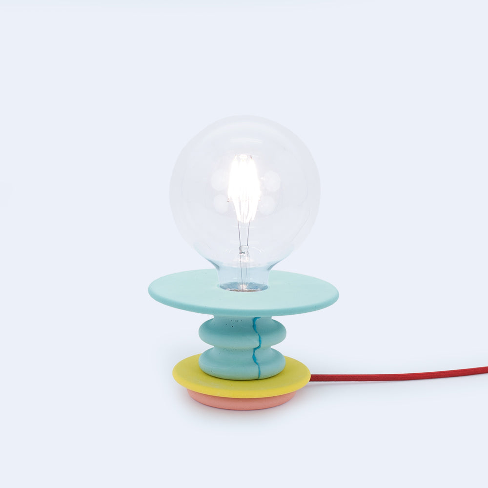 green and yellow small table lamp Frutti made by 24d-studio