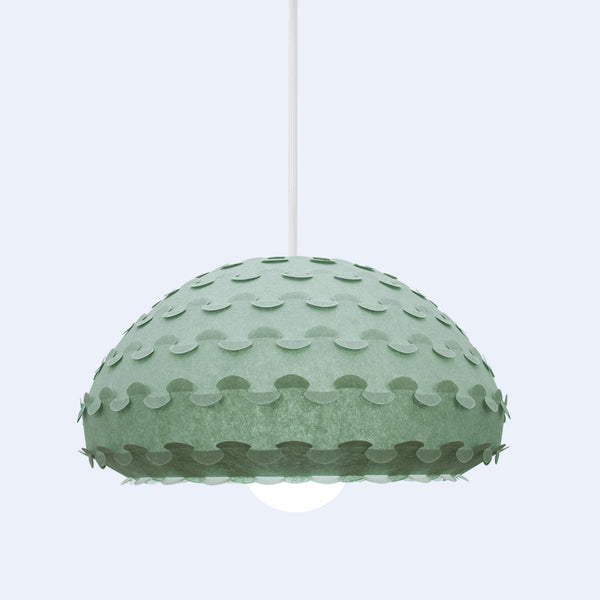 green dome pendant lamp Kasa by 24d-studio