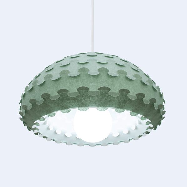 green and white double lamp shade Kasa by 24d-studio