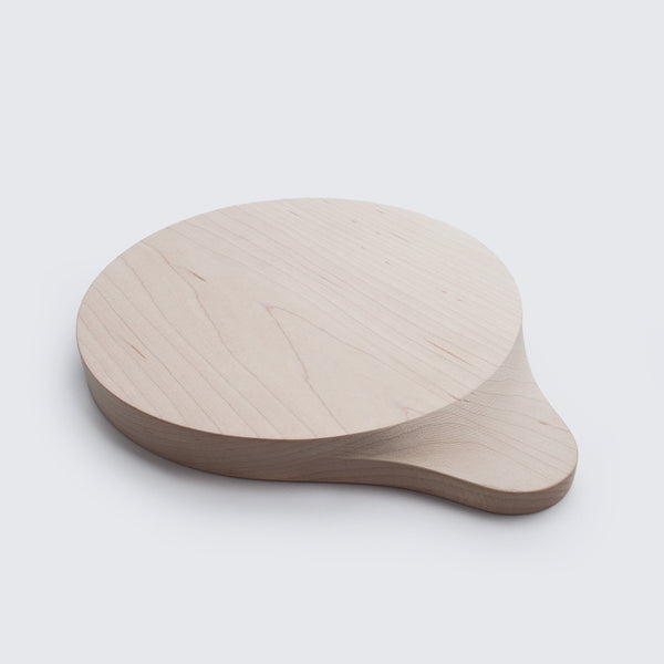 round wood cutting board with cnc milled handle by 24d-studio