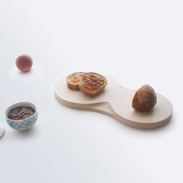 round medium wood serving tray from Loops Collection by 24d-studio