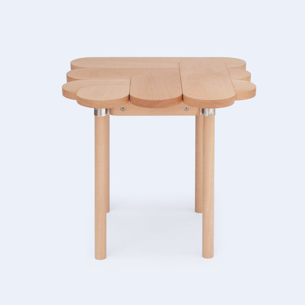 oval profile stool made from solid wood parts from Moku+ collection made by 24d-studio in Japan
