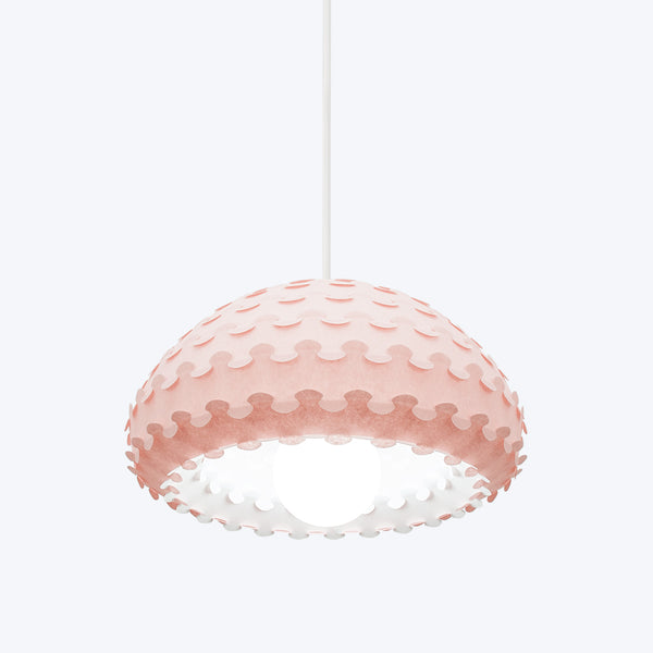 interior lighting solution by pink washi paper lamp shade Kasa by 24d-studio in Japan