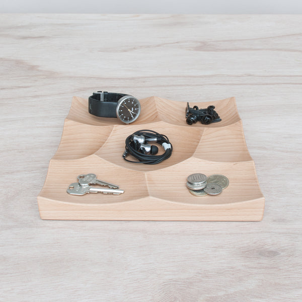 Small Storm Tray in beech wood is perfect for holding small objects and accessories