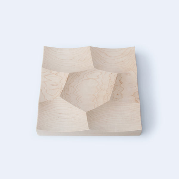 landscape inspired small wood tray, Storm in maple wood, by 24d-studio