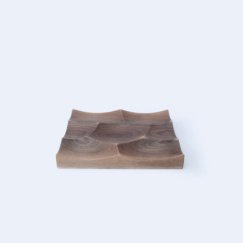 Walnut Small Storm tray is inspired by Japan oceans and landscapes, designed and made by 24d-studio
