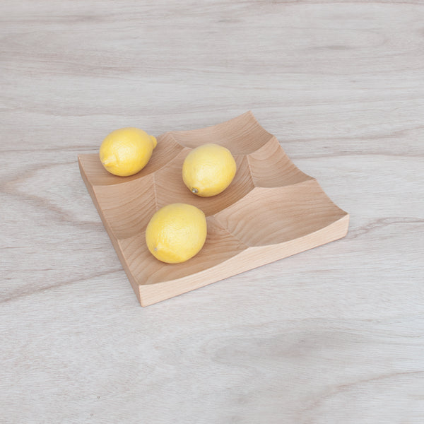 Small Storm Tray as fruits display system made from beech wood
