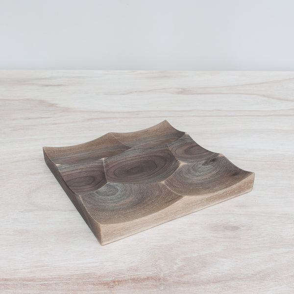 Small Storm tray is milled from solid walnut wood and hand finished with waterproof finish by 24d-studio