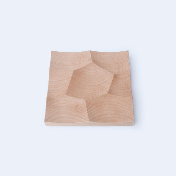 CNC milled Small Storm Tray in solid beech wood made by 24d-studio