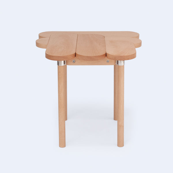 graphic oval profile stool made from beech wood by 24d-studio