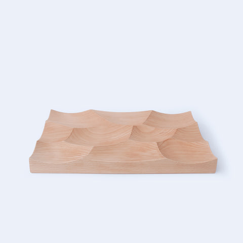 Large Storm Tray in solid beech wood with waterproof finish
