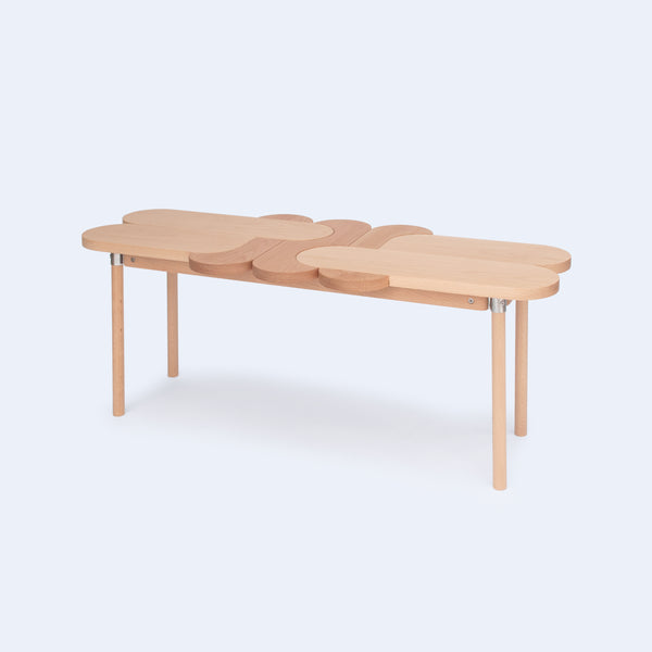 wood bench Moku+ is inspired by wooden puzzles made in Japan by 24d-studio