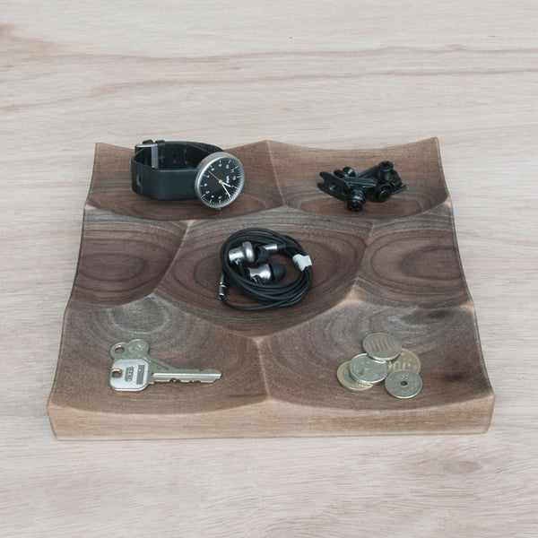 Small Storm Tray is made from solid walnut wood is perfect for small accessories and jewelry display