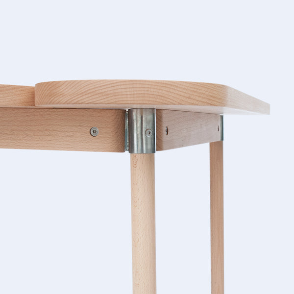 Moku+ wood table connection detail by 24d-studio