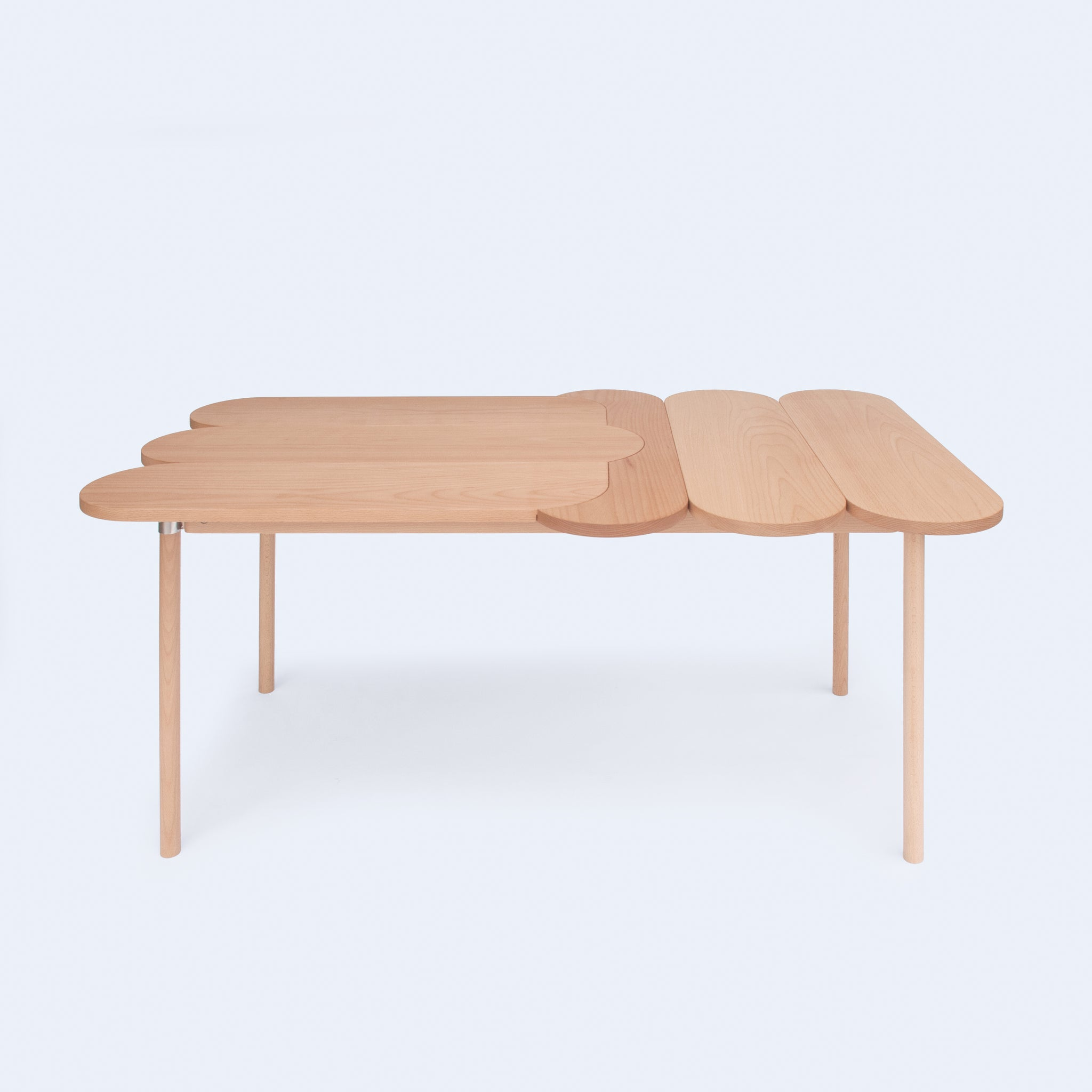 Oval solid wood table from Moku+ Collection by 24d-studio