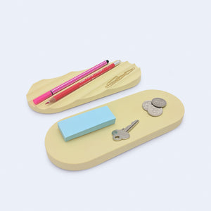 desk organizing trays in yellow, botanica by 24d-studio