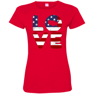 I love America Ladies' Fine Jersey T-Shirt