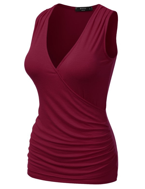 129 Sleeveless V-neck