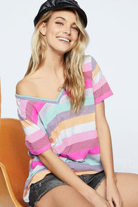 158 STRIPE V Neck