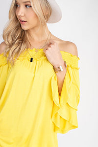 127 yellow off the shoulder
