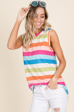 159 Striped Sleeveless Top