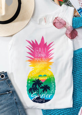 117 Rainbow Pineapple Tank Top
