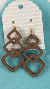 A12 Wooden Earings Assorted shapes & colors