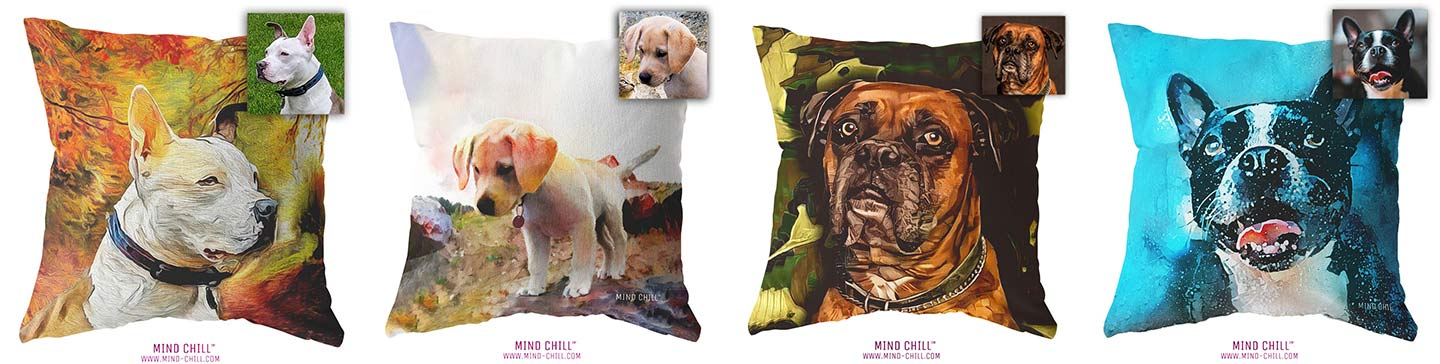 mind chill custom pet pillows