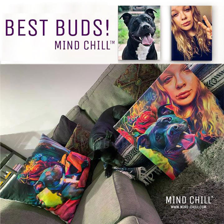 Best Buds! Custom Pet Canvas & Custom Pillow Gift Set (Deal of the Day)