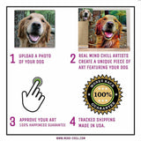 Mind chill custom dog portrait canvas instructions