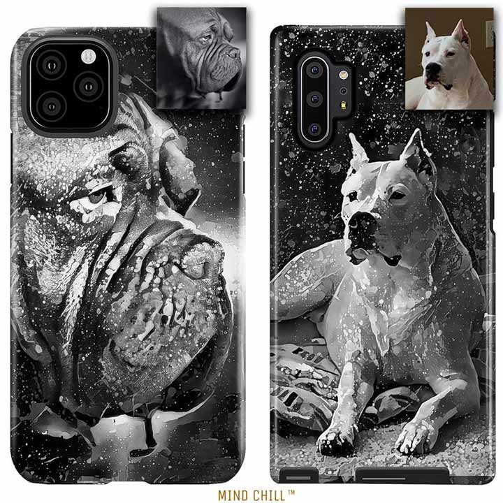 Black & White Graffiti Style | Custom Phone Case Featuring Your Dog! | Unique Pet Gift
