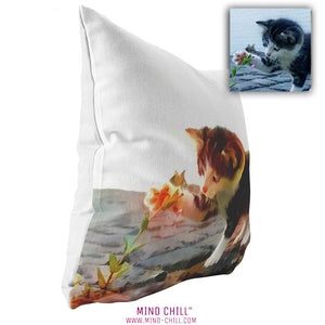 custom pet pillow, custom pet photo pillow, custom pillow of your cat