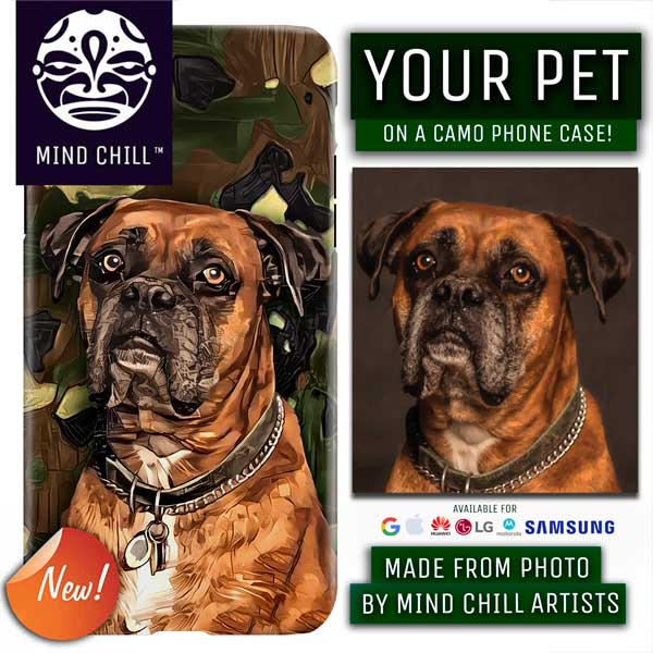 Custom Camo Print Style |  Unique Pet Phone Case | Made Just For You!
