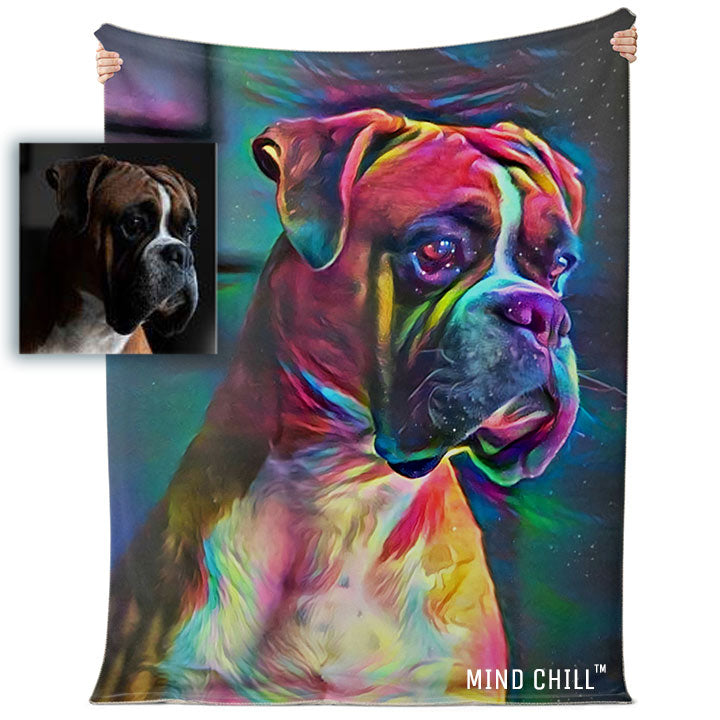 mind chill custom pet blanket, custom pet blankets, custom pet blanket gift, gifts for cat lovers, gifts for dog lovers