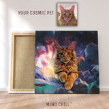 Cosmic Paint Pet Portrait - Mind Chill Custom Canvas Print