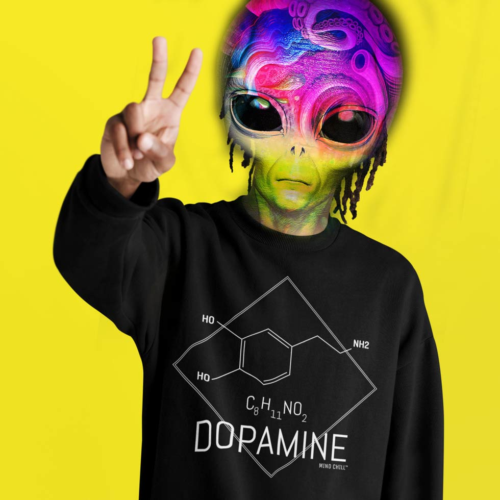 BLACK DOPAMINE UNISEX MIND CHILL SWEATSHIRT - LIMITED EDITION