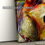 Mind chill custom dog portrait on gallery canvas featuring your dog!