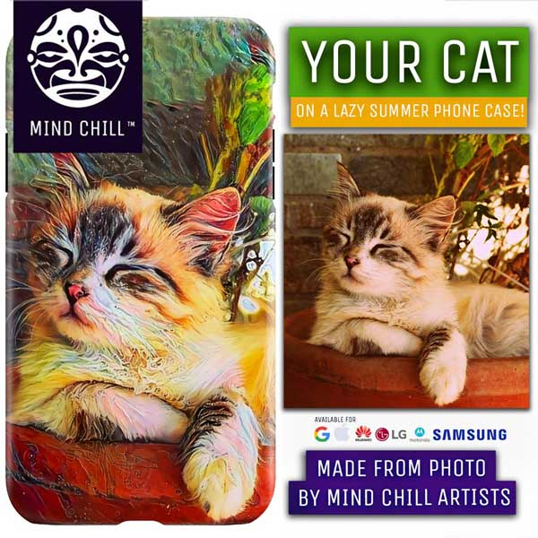 Lazy Summer Style Custom Cat Phone Case | Unique Cat Gifts For Cat Lovers