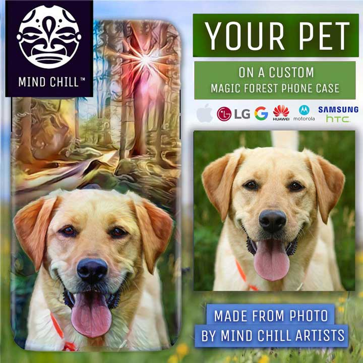 Custom Magic Forest Pet Phone Case - Made Just For You by Mind Chill Artists