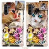 Butterfly Wonderland Cat Portrait | Custom Phone Case | Unique Cat Gifts For Cat Lovers