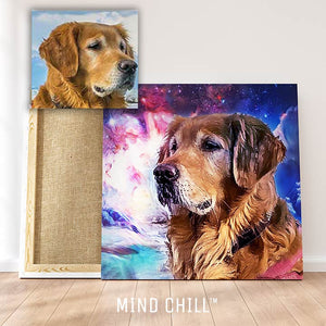 Mind Chill Cosmic Pet Portrait Canvas | Just Add A Photo | Our Artists Do the Rest!