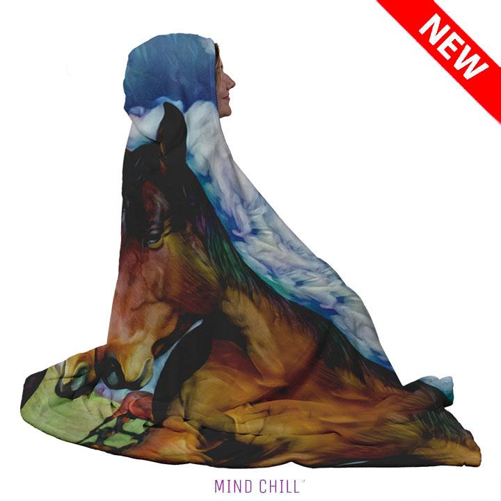 Mind Chill Custom Horse Portrait Blankets