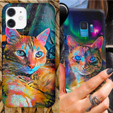 Custom Graffiti Cat Portrait Phone Case | Unique Cat Gifts For Cat Lovers